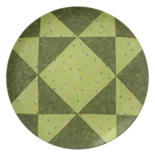 Green Star Quilter's Plate