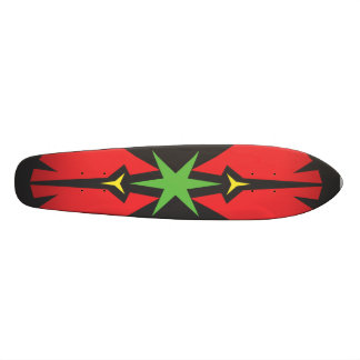 Green Star red abstract geometric Skateboard