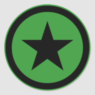 Green Star Stickers