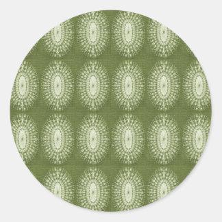 Green Star Round Stickers