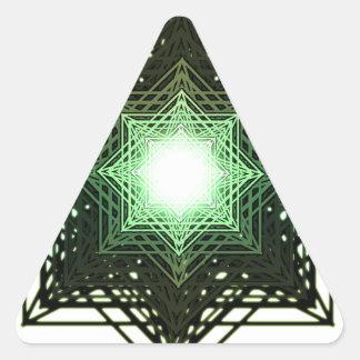 Green Star Triangle Sticker