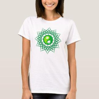 Green Star With Green Leafs Yin Yang T-Shirt