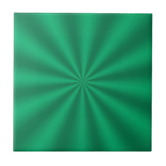 Green Starburst Ceramic Tile