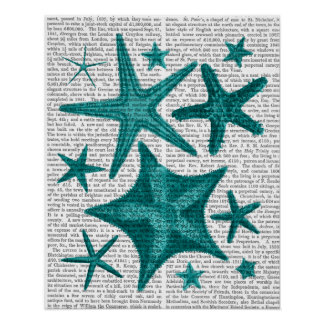 Green Starfish Collection Poster