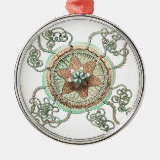 Green Starfish Metal Ornament