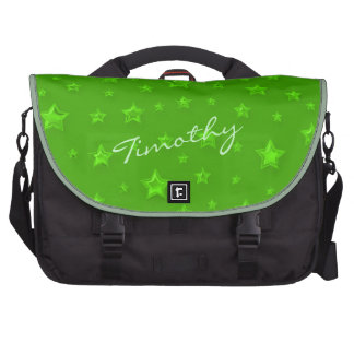 Green Starry Laptop Bag Template