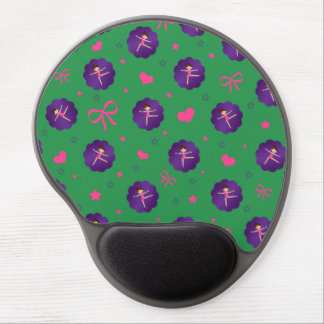 Green stars hearts bows purple scallop gymnast gel mouse pads