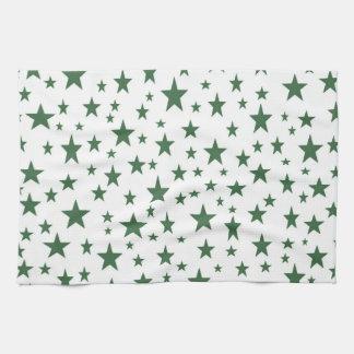 Green Stars Kitchen Towel