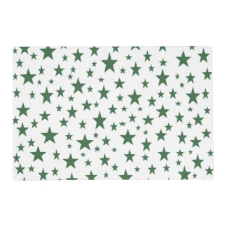 Green Stars Laminated Placemat