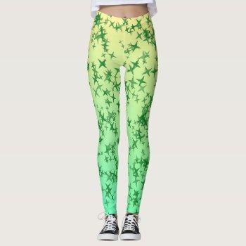 Green Stars Leggings