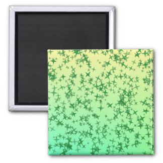 Green Stars Magnet