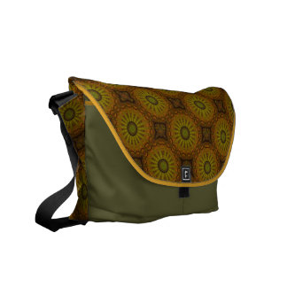 Green Stars Messenger Bag