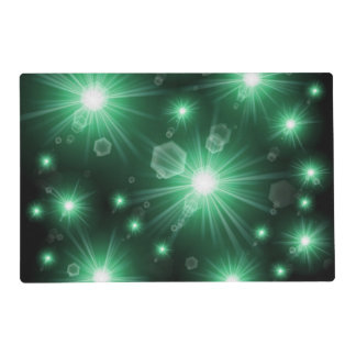 green stars placemat