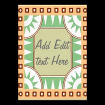 Green Stars Scrolls Invite Card invitations