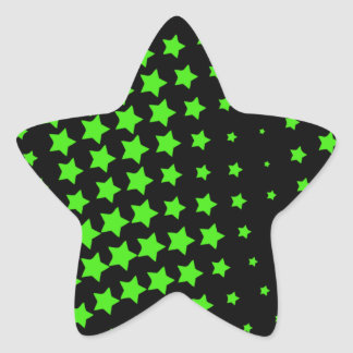 Green Stars Star Sticker
