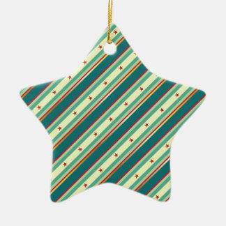 Green Stars & Stripes Ornaments