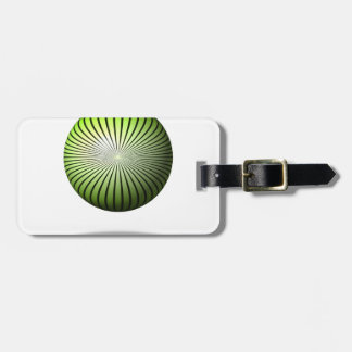 Green Start Globe Luggage Tag