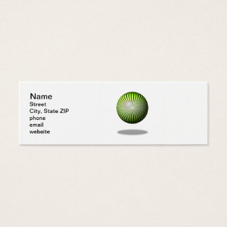 Green Start Globe Mini Business Card