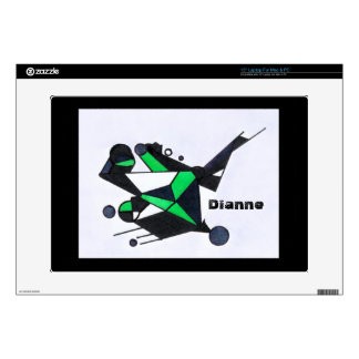 Green Stealth Abstract Laptop Skin