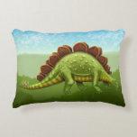 Green Stegosaurus Dinosaur Pillow Accent Pillow