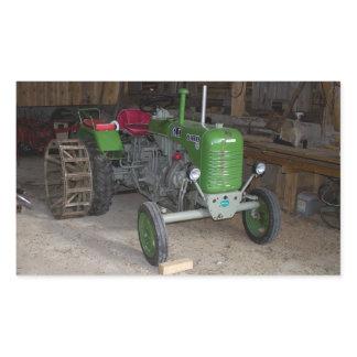 Green Steyr Tractor KL I Rectangular Sticker