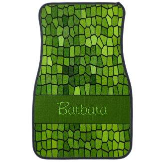Green Stian Glass Personalized