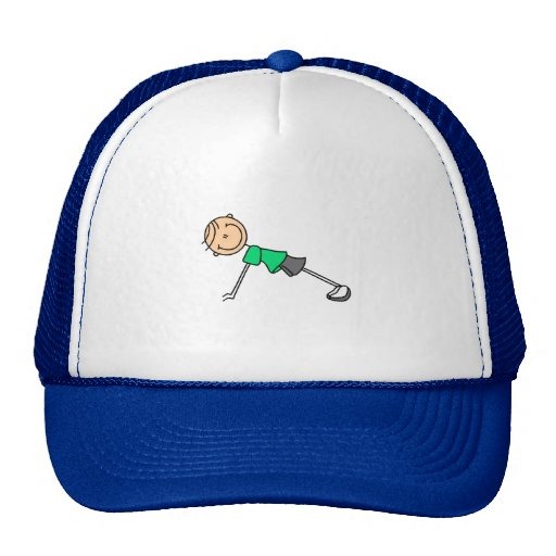 Green Stick Figure Exercise Hat