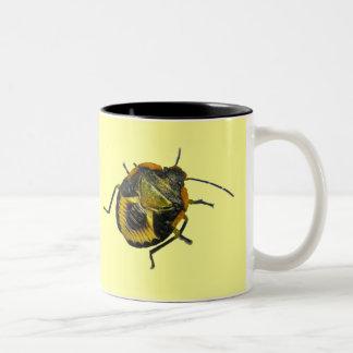Green Stink Bug Nymph Coordinating Items Two-Tone Coffee Mug