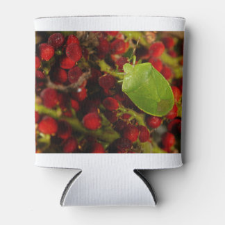 Green Stink Bug on Sumac Can Cooler