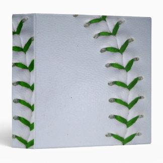Green Stitches Baseball / Softball Binder
