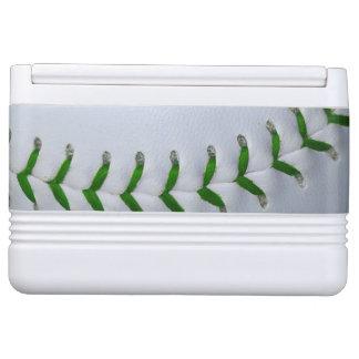 Green Stitches Baseball / Softball Cooler