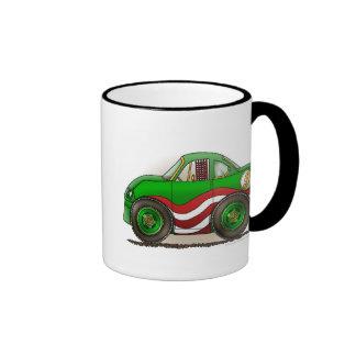 Green Stock Car Mugs