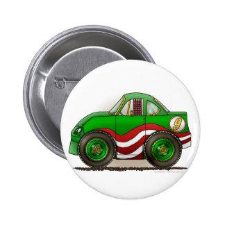 Green Stock Car Pins