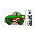 Green Stock Car Stamps