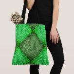 Green stock market false gram or leaves of coconut tote bag