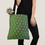 """Green stock market with """"screen or colorful net"""" - tote bag"""