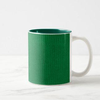 Green Stockinette Mug