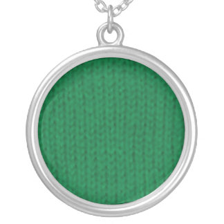 Green Stockinette Necklace