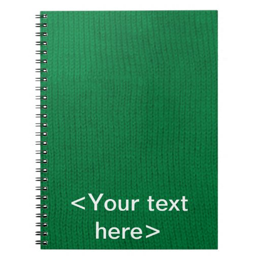 Green Stockinette Spiral Notebook