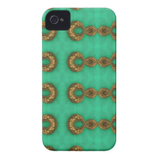 Green Stone and Metal Blackberry case