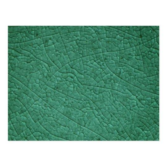 Green stone cracks postcard