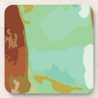 Green Stone Drink Coaster