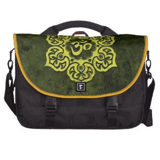 Green Stone Floral Om Bag For Laptop
