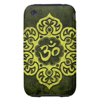 Green Stone Floral Om Tough iPhone 3 Covers