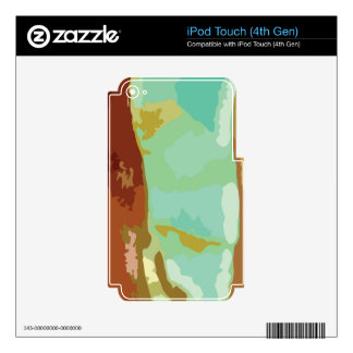 Green Stone iPod Touch 4G Skin