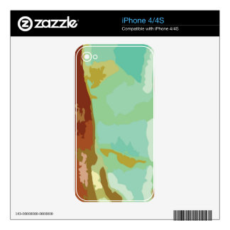 Green Stone Skins For iPhone 4