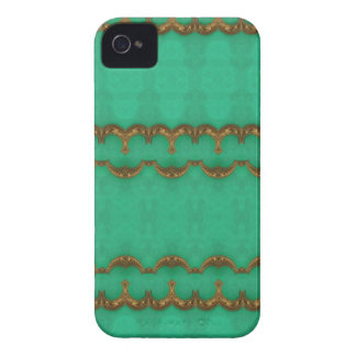 Green stone with Gold Trim Design iPhone 4 Cover