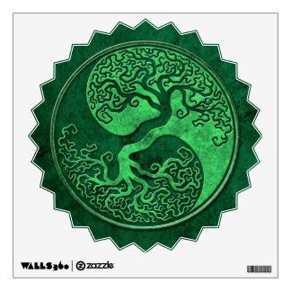 Green Stone Yin Yang Tree Room Decal