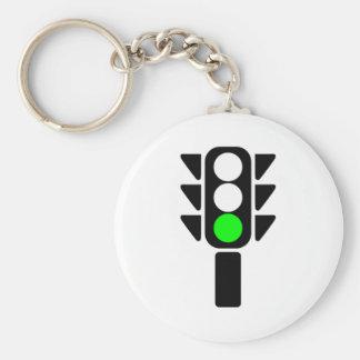 Green Stoplight Keychains
