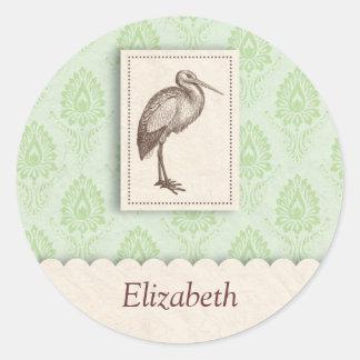 Green stork sticker